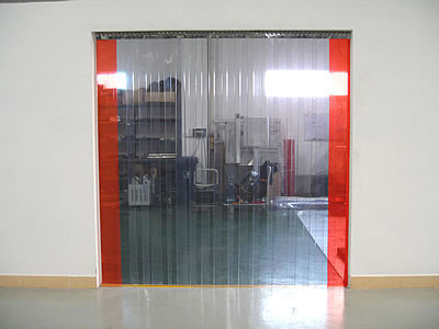 PVC Strip Curtain - Minimum Overlap-0