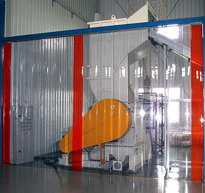 PVC Strip Curtain - Partial Overlap-0