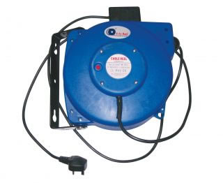 Hose Reels & Wash Down Guns 605-100 Spring ReWind Electric Cable Reel-0