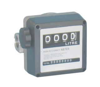 "1"" Flow meter, 4 digit register for diesel, accuracy +/- 2%-0"