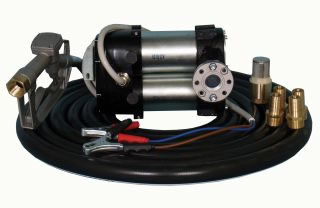 High speed battery diesel transfer pump kit, 80L/min, 12V or 24V-0