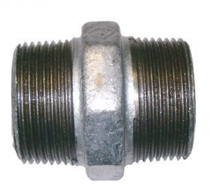 Hexagon Nipple Galvanised BSPT-0