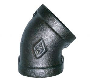 Equal Female 45º Elbow Black BSPP-0