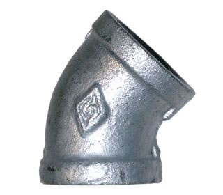 Equal Female 45º Elbow Galvanised BSPP-0