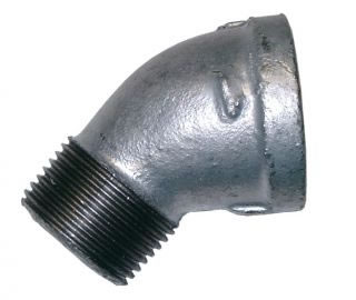 Equal Male & Female 45º Elbow Galvanised BSPP-0