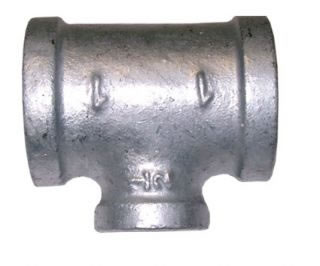 Female Tee Reducing Branch Galvanised BSPP-0